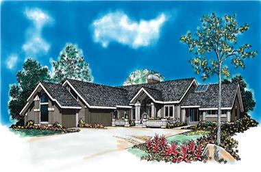 3-Bedroom, 3715 Sq Ft Contemporary House Plan - 137-1339 - Front Exterior
