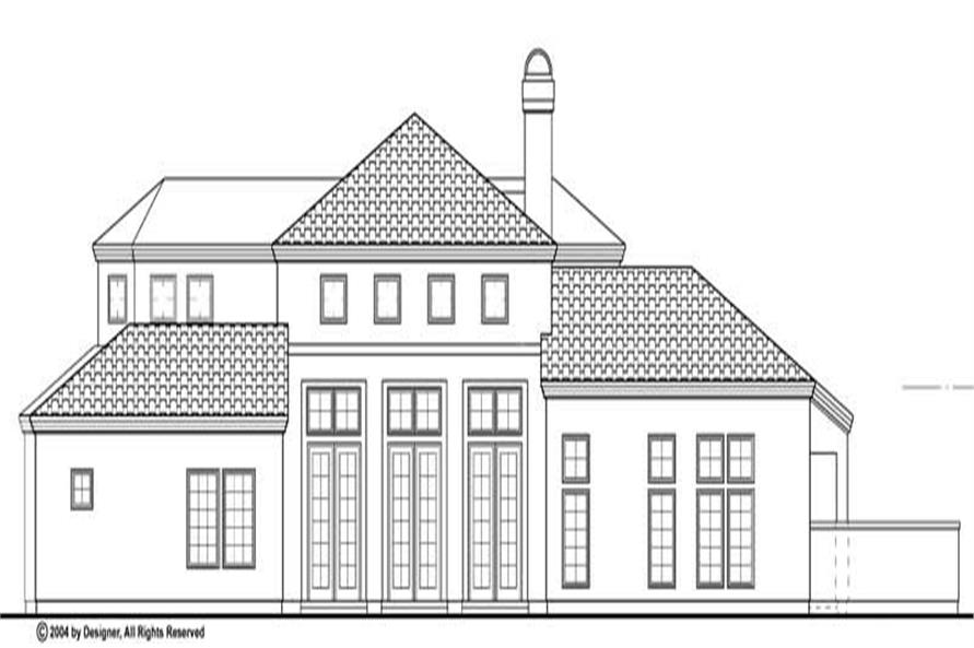 Home Plan Rear Elevation of this 4-Bedroom,2385 Sq Ft Plan -137-1340