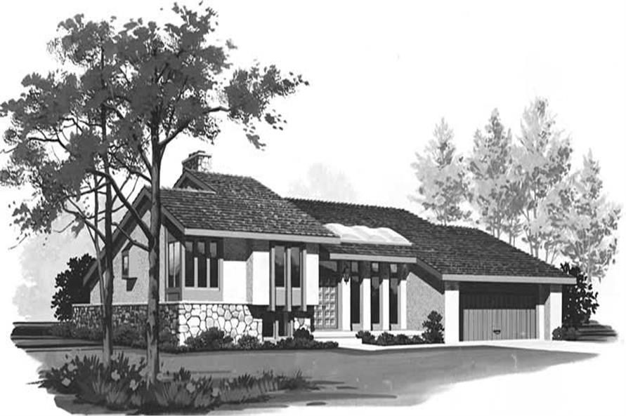3-Bedroom, 3390 Sq Ft Contemporary House Plan - 137-1342 - Front Exterior