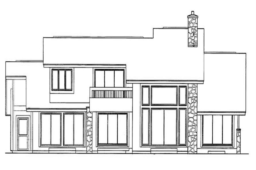 Home Plan Rear Elevation of this 3-Bedroom,3390 Sq Ft Plan -137-1342