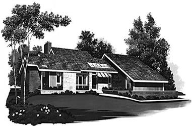 4-Bedroom, 4608 Sq Ft Contemporary House Plan - 137-1343 - Front Exterior