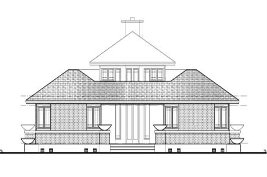 Home Plan Rear Elevation of this 4-Bedroom,3278 Sq Ft Plan -137-1347