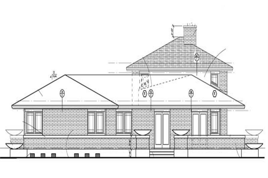 Home Plan Left Elevation of this 4-Bedroom,3278 Sq Ft Plan -137-1347