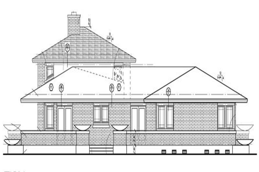 Home Plan Right Elevation of this 4-Bedroom,3278 Sq Ft Plan -137-1347