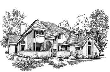 4-Bedroom, 5092 Sq Ft Contemporary Home Plan - 137-1348 - Main Exterior