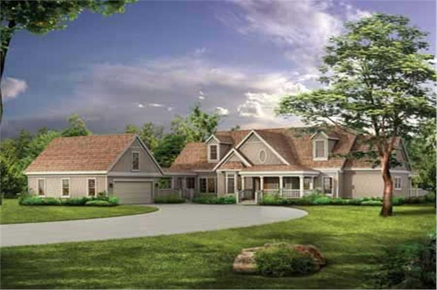 4-Bedroom, 2629 Sq Ft Country House Plan - 137-1349 - Front Exterior