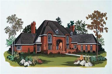 5-Bedroom, 6628 Sq Ft European House Plan - 137-1351 - Front Exterior