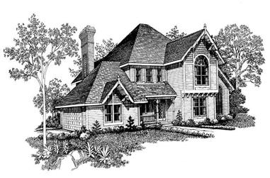 3-Bedroom, 2540 Sq Ft Victorian Home Plan - 137-1354 - Main Exterior
