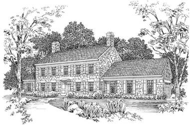 3-Bedroom, 3047 Sq Ft Cape Cod House Plan - 137-1357 - Front Exterior