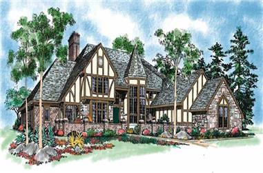 4-Bedroom, 6289 Sq Ft European Home Plan - 137-1359 - Main Exterior