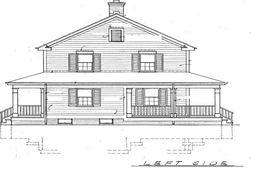 Home Plan Left Elevation of this 3-Bedroom,2336 Sq Ft Plan -137-1360