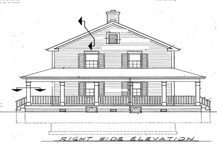 Home Plan Right Elevation of this 3-Bedroom,2336 Sq Ft Plan -137-1360