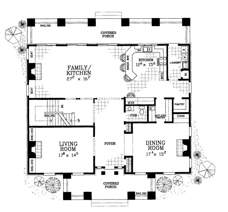 Colonial house plans home design hw 3527 18294 for 4000 square feet dimensions