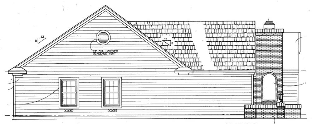 137-1363: Home Plan Left Elevation