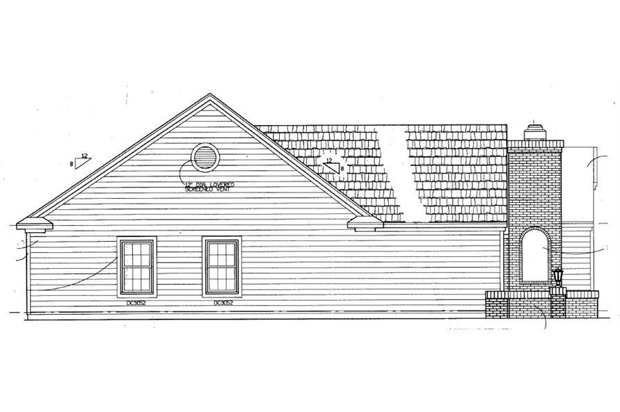 137-1363: Home Plan Left Elevation