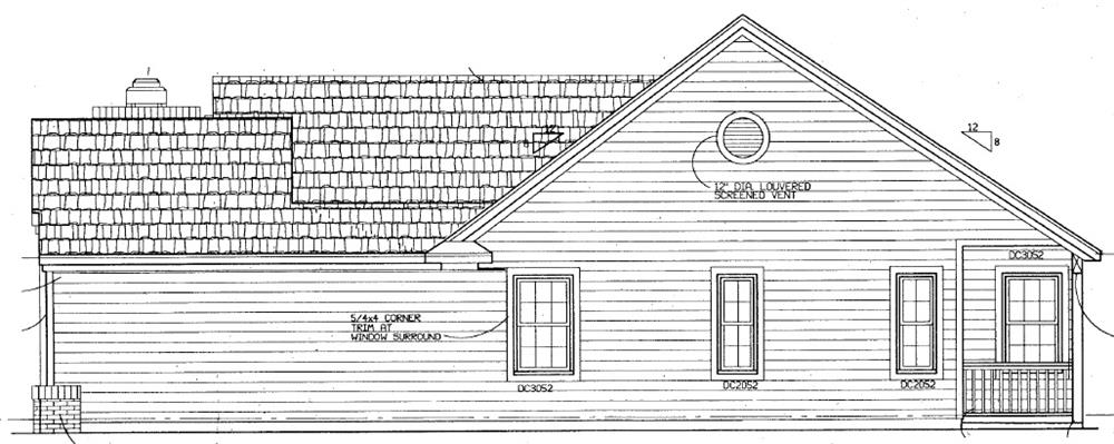 137-1363: Home Plan Right Elevation