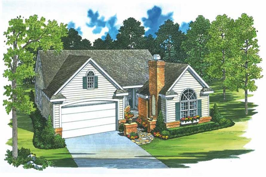 Front elevation of Country home (ThePlanCollection: House Plan #137-1363)