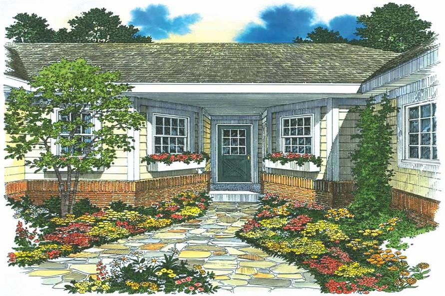 FRONT ENTRY of this 4-Bedroom,1418 Sq Ft Plan -1418