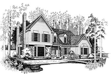 4-Bedroom, 3542 Sq Ft Colonial House Plan - 137-1367 - Front Exterior