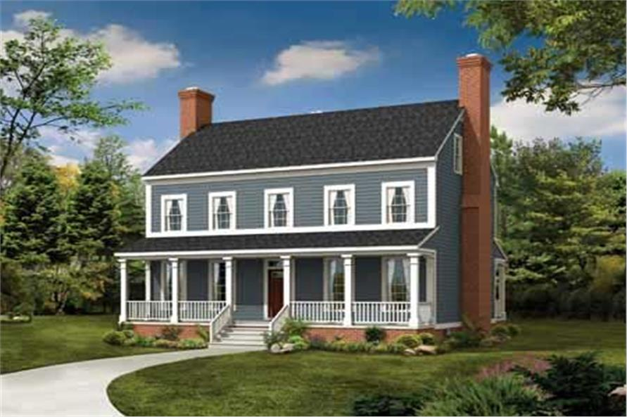 3-Bedroom, 2203 Sq Ft Country House Plan - 137-1373 - Front Exterior