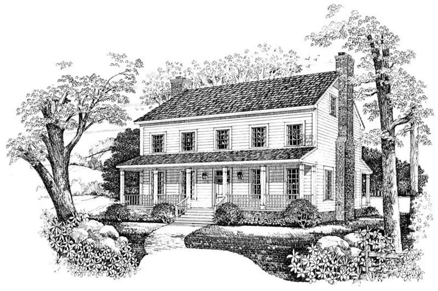 Home Plan Front Elevation of this 3-Bedroom,2203 Sq Ft Plan -137-1373