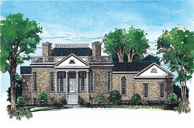 4-Bedroom, 4868 Sq Ft Victorian House Plan - 137-1374 - Front Exterior