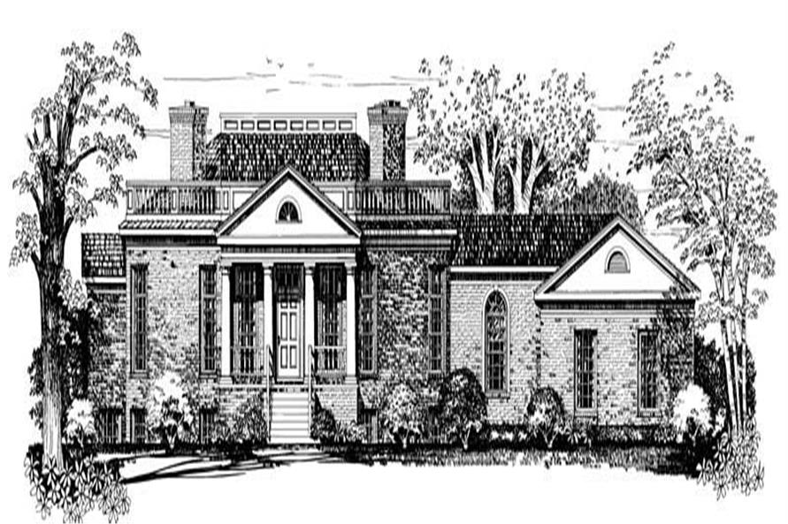 Home Plan Front Elevation of this 4-Bedroom,4868 Sq Ft Plan -137-1374