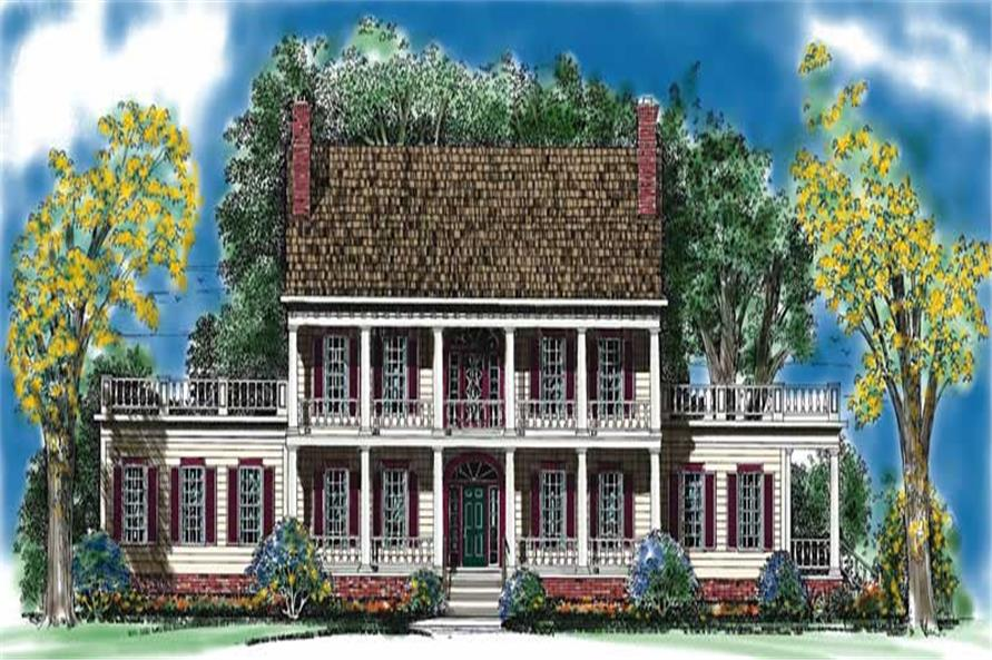 Home Plan Front Elevation of this 3-Bedroom,3833 Sq Ft Plan -137-1375