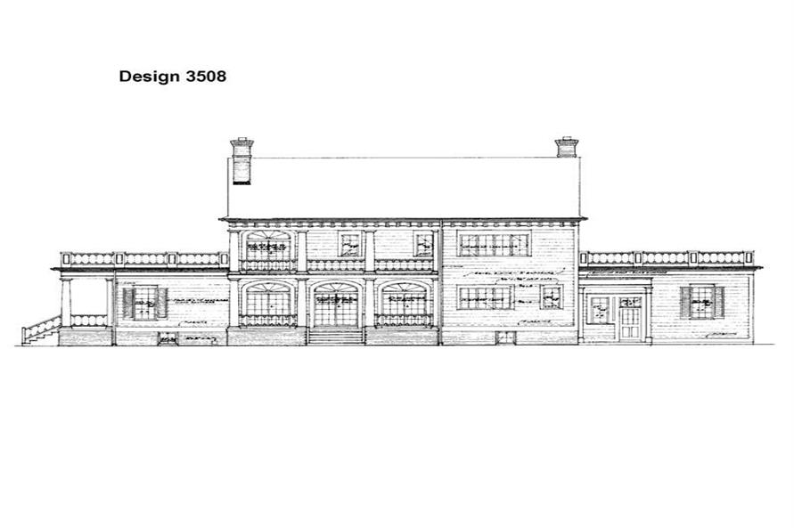 137-1375: Home Plan Rear Elevation