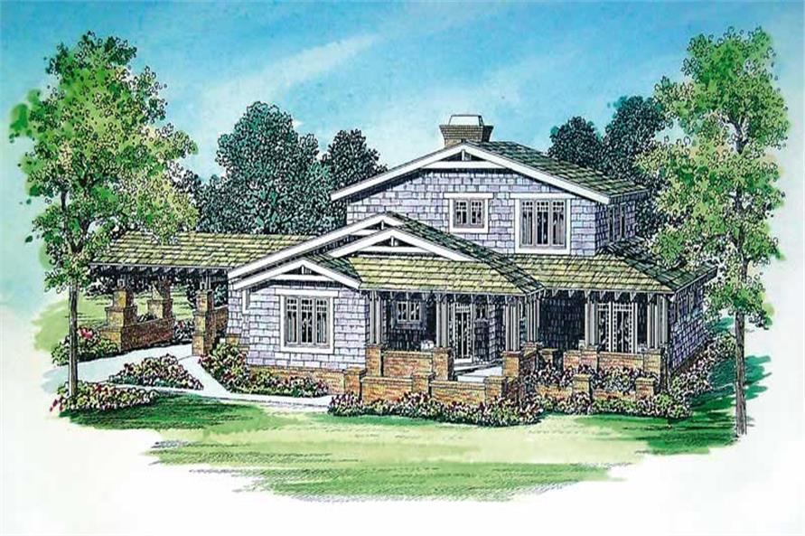 3-Bedroom, 2436 Sq Ft Craftsman House Plan - 137-1377 - Front Exterior