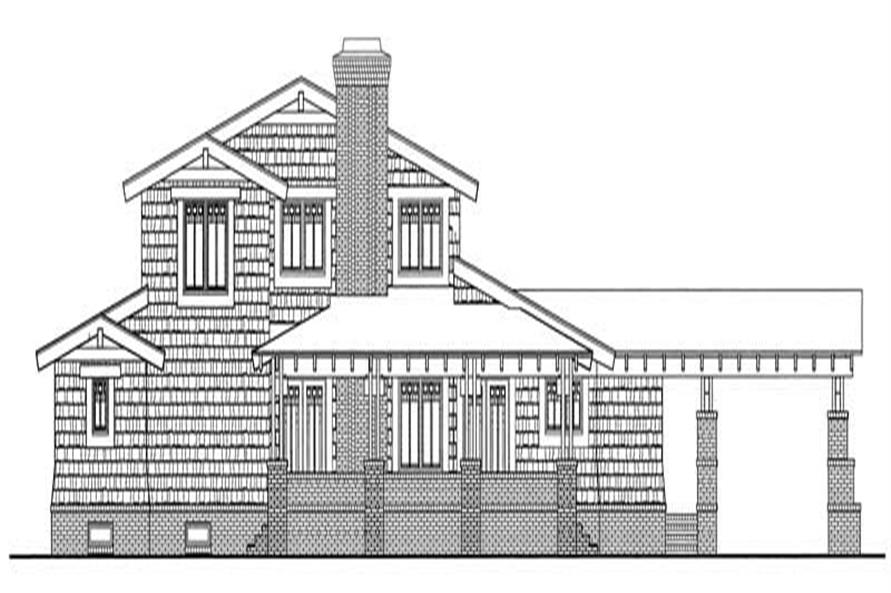 Home Plan Rear Elevation of this 3-Bedroom,2436 Sq Ft Plan -137-1377
