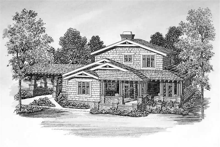Home Plan Front Elevation of this 3-Bedroom,2436 Sq Ft Plan -137-1377