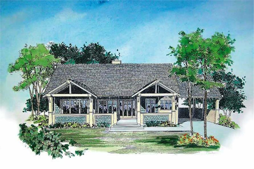 2-Bedroom, 2135 Sq Ft Ranch House Plan - 137-1378 - Front Exterior