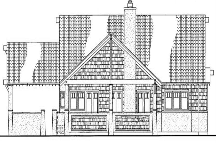 Home Plan Rear Elevation of this 2-Bedroom,2135 Sq Ft Plan -137-1378