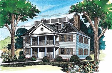 4-Bedroom, 2885 Sq Ft French Home Plan - 137-1382 - Main Exterior