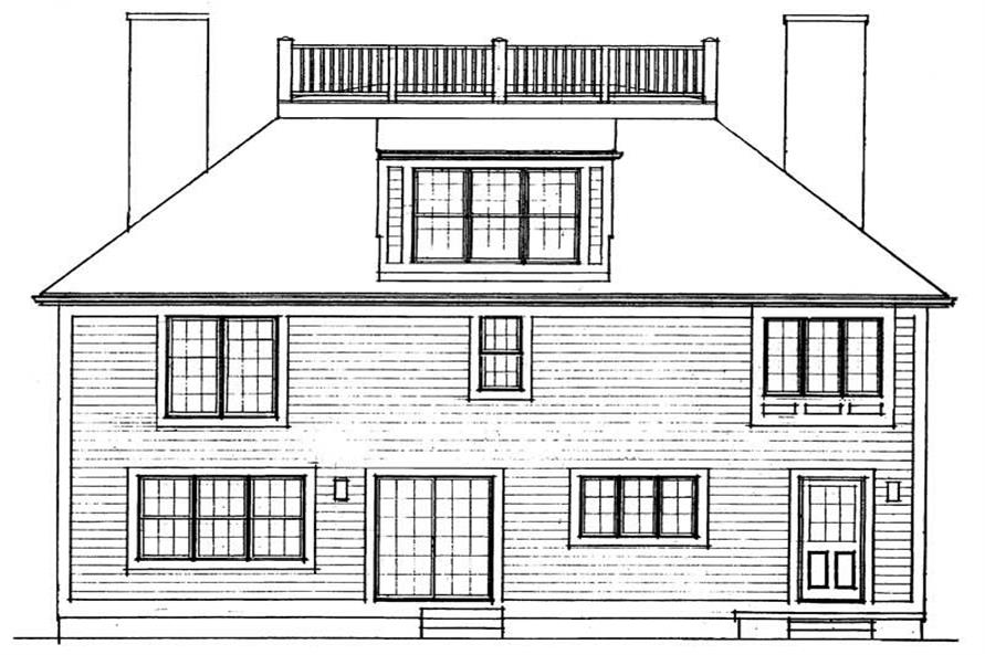 Home Plan Rear Elevation of this 4-Bedroom,2885 Sq Ft Plan -137-1382