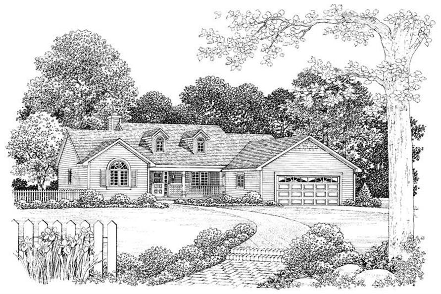 Home Plan Front Elevation of this 2-Bedroom,2213 Sq Ft Plan -137-1384