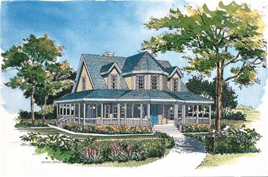 3-Bedroom, 1895 Sq Ft Victorian Home Plan - 137-1385 - Main Exterior