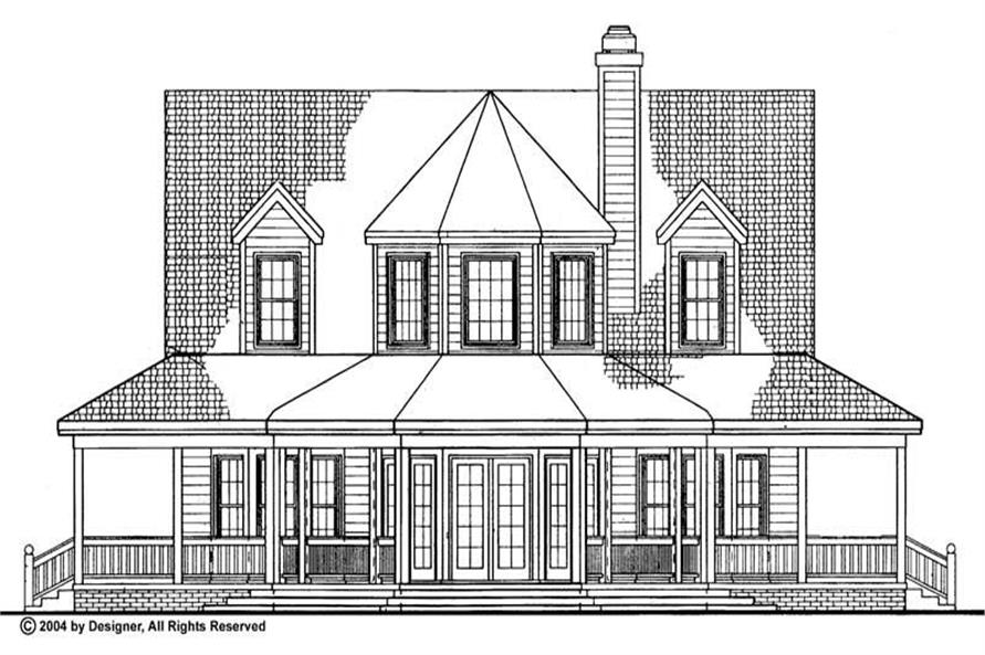 Home Plan Rear Elevation of this 3-Bedroom,1895 Sq Ft Plan -137-1385