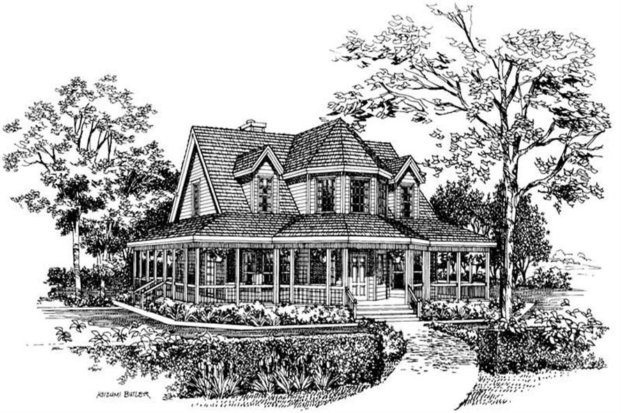 Home Plan Front Elevation of this 3-Bedroom,1895 Sq Ft Plan -137-1385