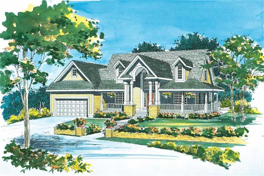 3-Bedroom, 1937 Sq Ft Country Home Plan - 137-1387 - Main Exterior