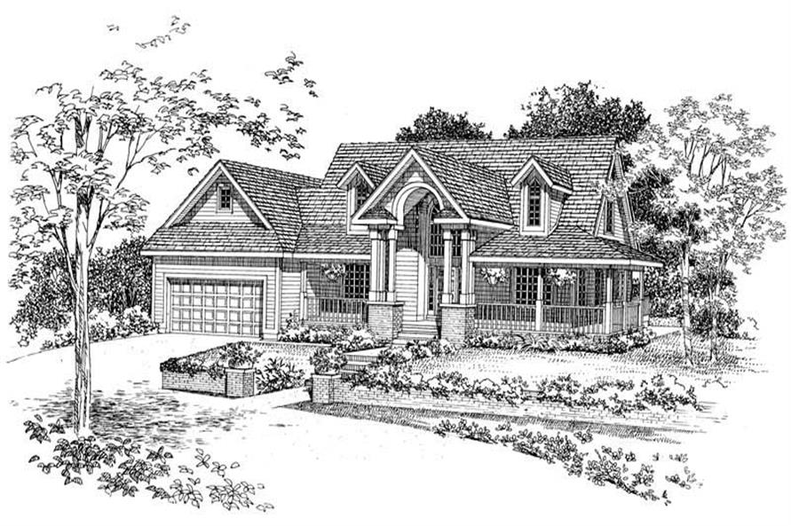 Home Plan Front Elevation of this 3-Bedroom,1937 Sq Ft Plan -137-1387