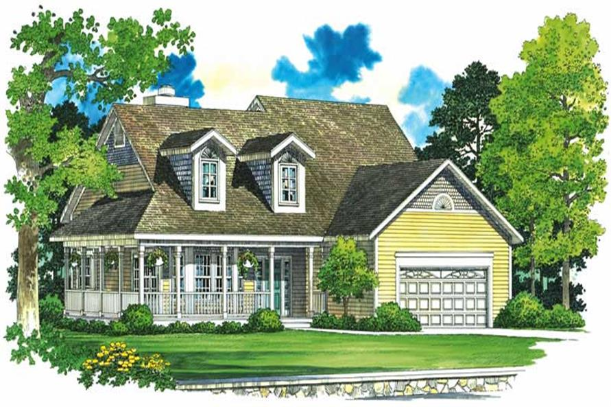 3-Bedroom, 2220 Sq Ft Country House Plan - 137-1388 - Front Exterior