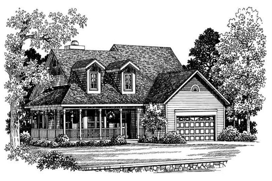 Home Plan Front Elevation of this 3-Bedroom,2220 Sq Ft Plan -137-1388