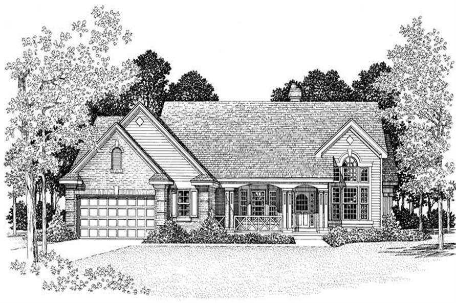 Home Plan Front Elevation of this 3-Bedroom,2424 Sq Ft Plan -137-1392