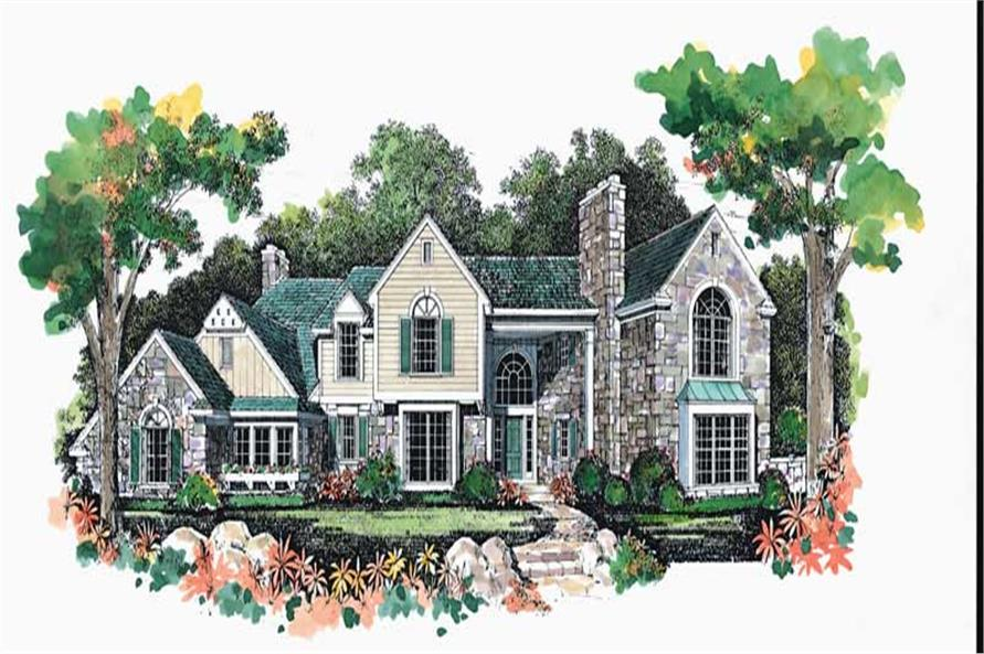4-Bedroom, 3645 Sq Ft Contemporary Home Plan - 137-1394 - Main Exterior