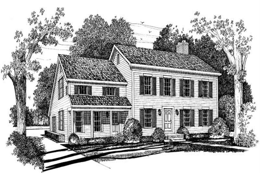5-Bedroom, 3242 Sq Ft Colonial Home Plan - 137-1395 - Main Exterior