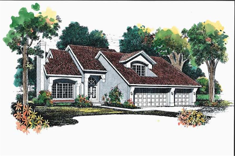 3-Bedroom, 2260 Sq Ft Contemporary Home Plan - 137-1397 - Main Exterior