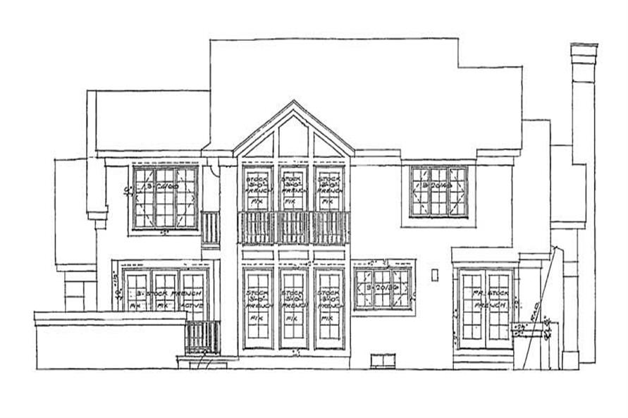 Home Plan Rear Elevation of this 3-Bedroom,2260 Sq Ft Plan -137-1397
