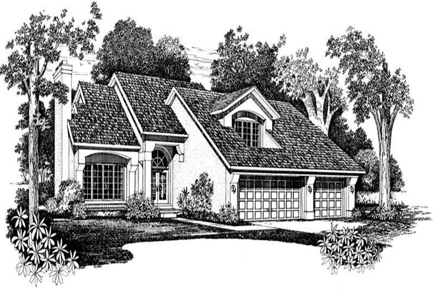 Home Plan Front Elevation of this 3-Bedroom,2260 Sq Ft Plan -137-1397